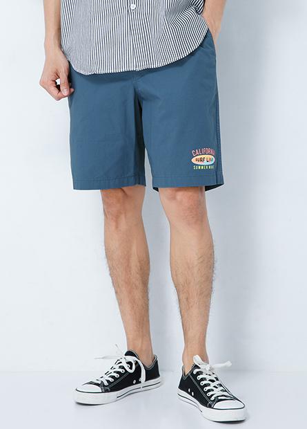 鬆緊綁帶休閒短褲