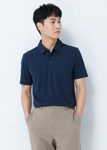 單口袋機能短袖POLO衫