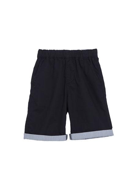 男童褲口配布反摺短褲