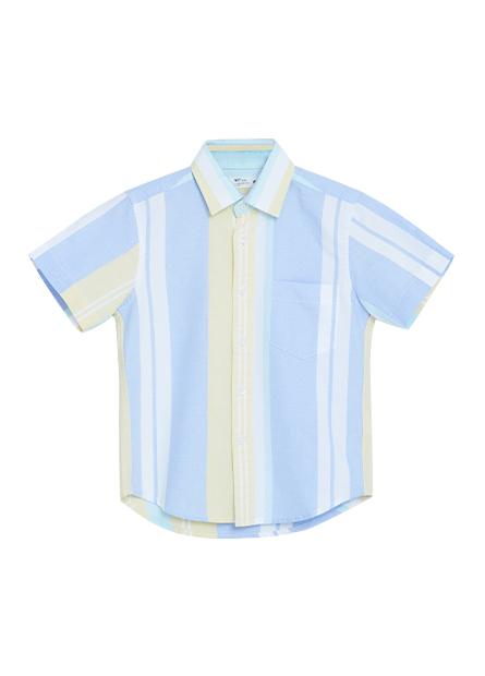 男童短袖印花襯衫