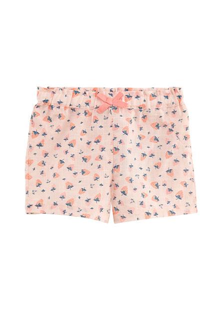 女嬰鬆緊滿版印花短褲