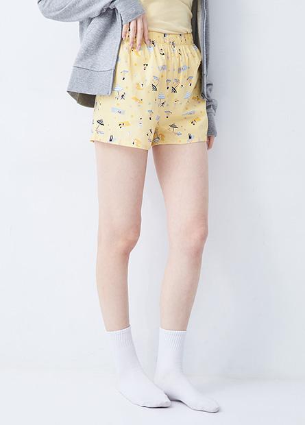可愛印花家居短褲