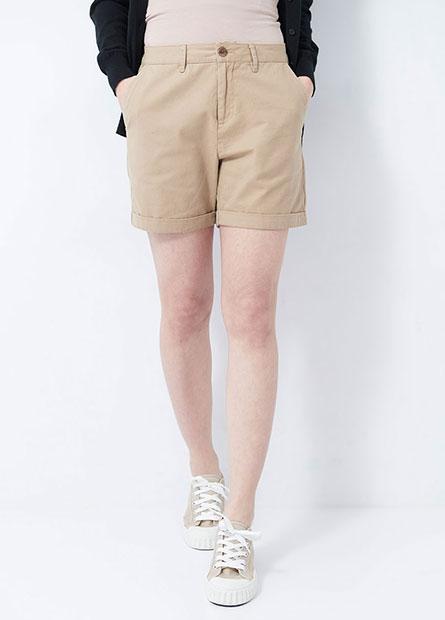 基本休閒反摺短褲