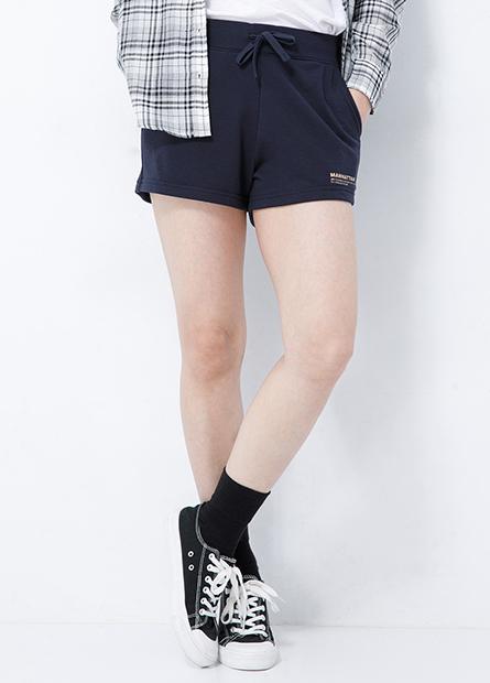 綁帶字樣棉質短褲