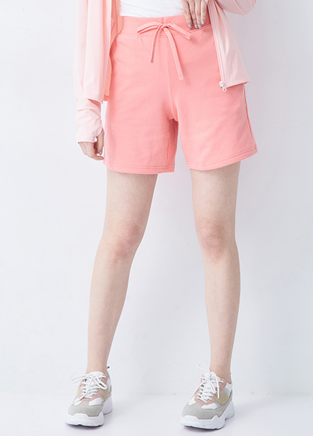 鬆緊綁帶棉質五分短褲