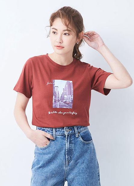 風景相片印花T恤