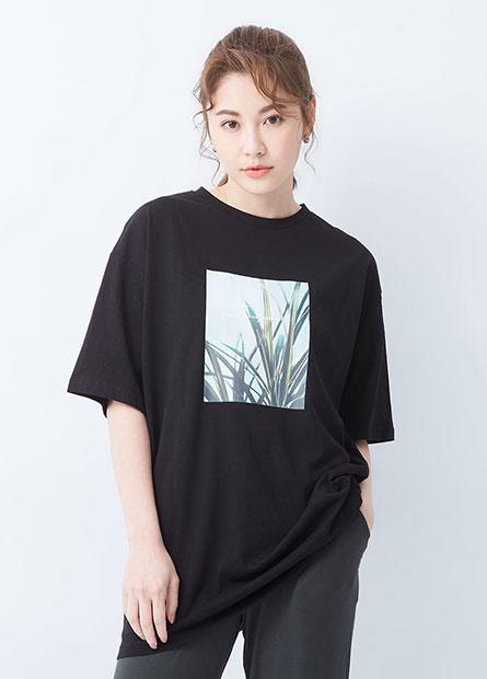 風景相片印花長版T恤
