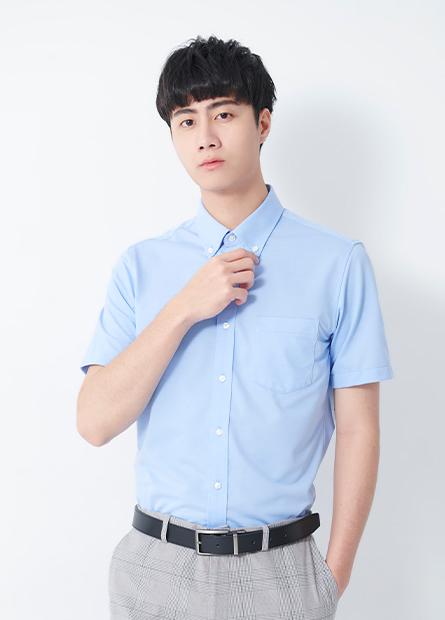 釘釦領針織襯衫