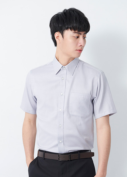 防皺商務短袖襯衫