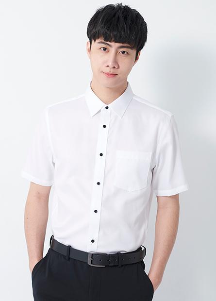 修身商務短袖襯衫