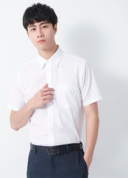 標準領反摺短袖襯衫