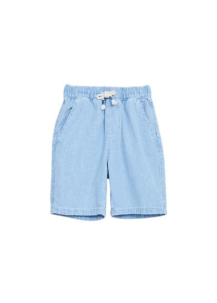 男童鬆緊綁帶牛仔短褲