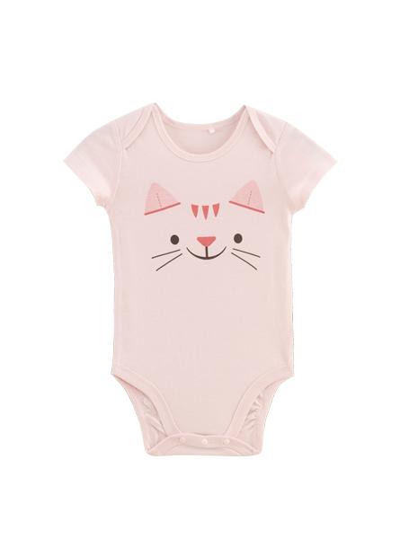 男嬰可愛動物印花包臀衣