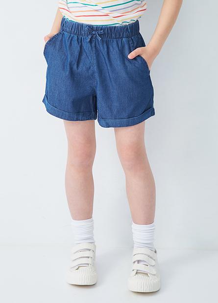 女童寬襬短褲