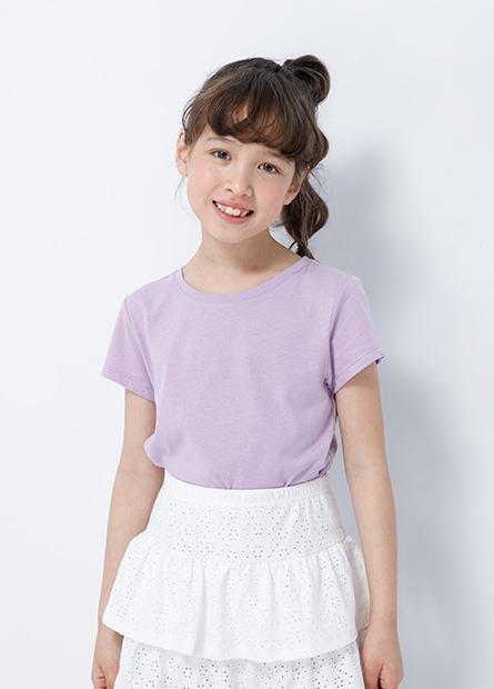 女童圓領素色上衣