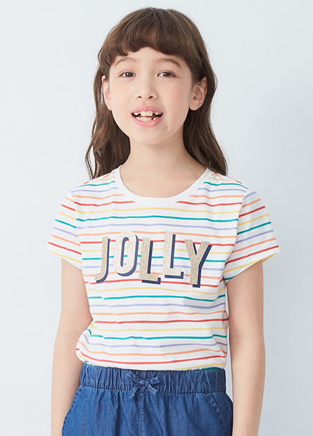 女童滿版印字T恤