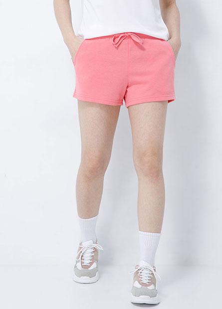 素色綁帶休閒短褲