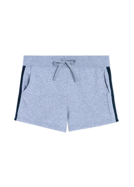 側邊壓紋綁帶休閒短褲