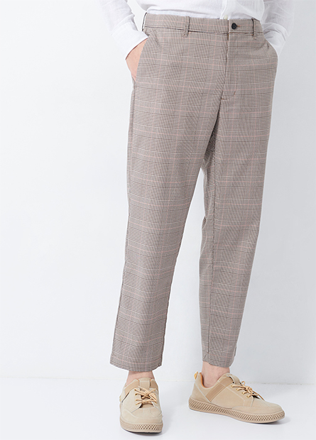 斜紋直筒九分褲