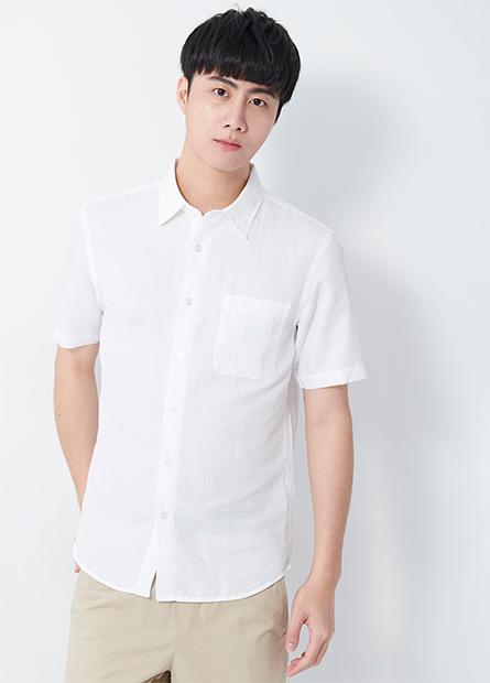 棉麻短袖襯衫