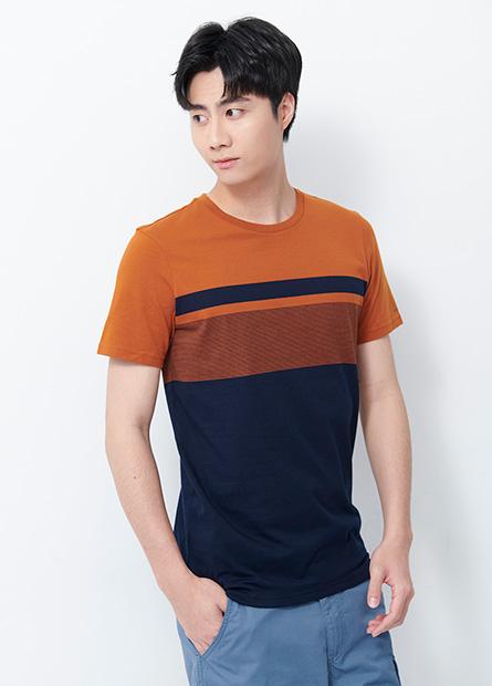 條紋撞色短袖T恤