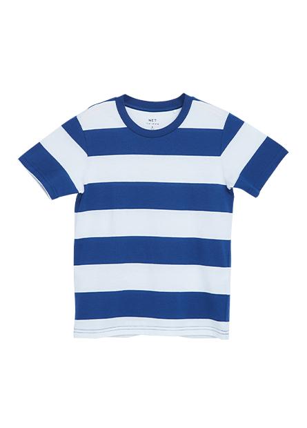 男童寬條紋短袖T恤