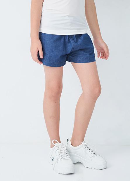 女童綁帶印花休閒短褲
