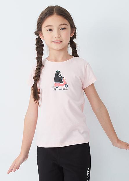 女童台灣黑熊印花T恤