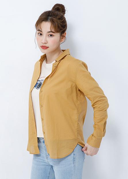 基本棉質長袖襯衫