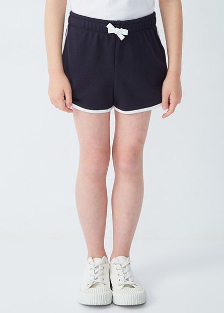女童側邊壓紋綁帶短褲
