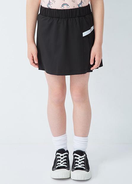 女童百褶拼接褲裙