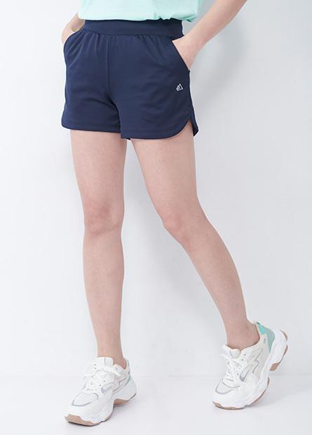 印花側開岔運動短褲