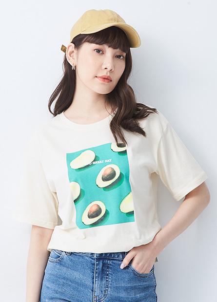 水果印花寬鬆T恤