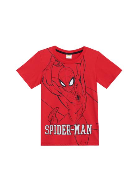 男童線條蜘蛛人印花T恤