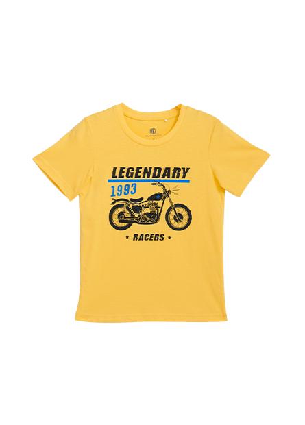 男童經典摩托車印花T恤