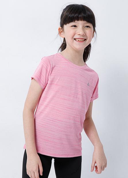 女童印花圓領運動上衣