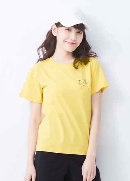 麻棉動物印花T恤