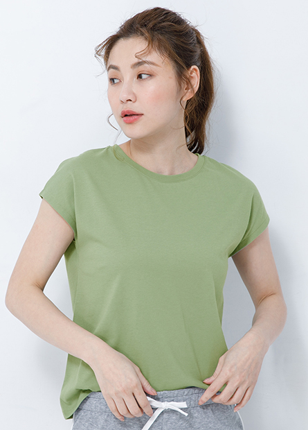 快適棉連肩袖T恤