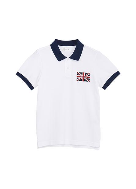 男童國旗繡花POLO衫