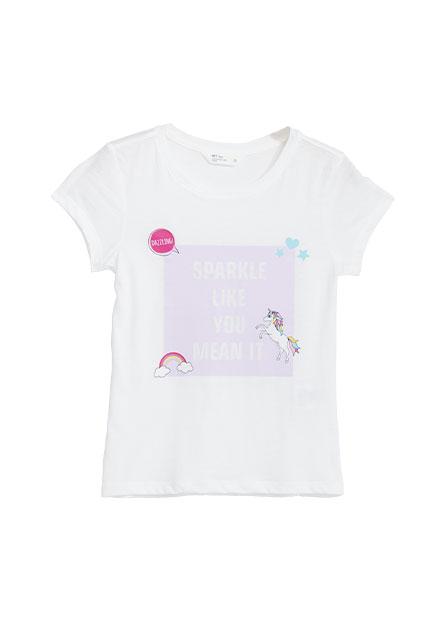 女童動物印花T恤
