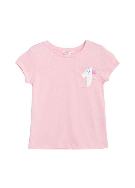 女童獨角獸口袋印花T恤