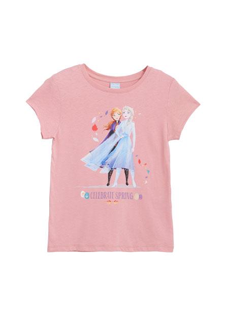 女童冰雪奇緣印花T恤