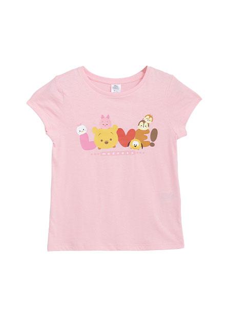 女童STUM印花T恤