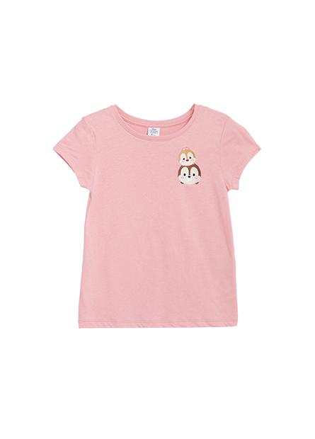女童STUM刺繡T恤