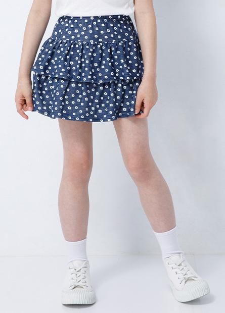女童蕾絲蛋糕褲裙