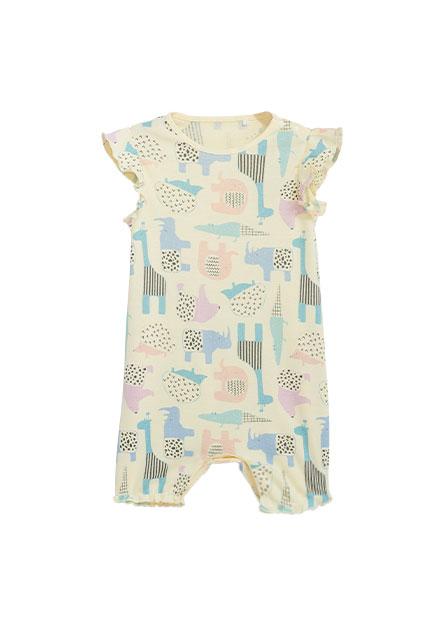 嬰兒滿版印花連身衣