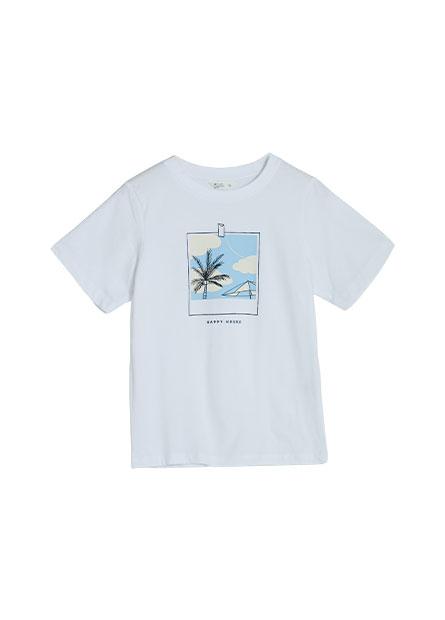 手繪風景印花T恤