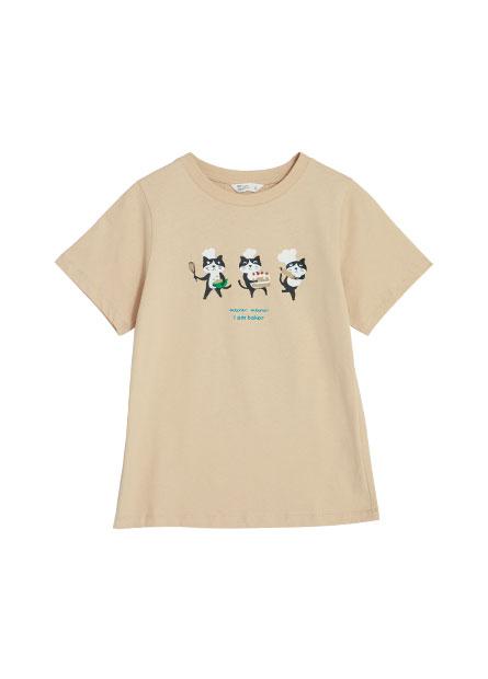 動物印花短袖T恤
