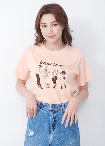 都會女子印花T恤