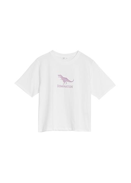 小恐龍印花T恤